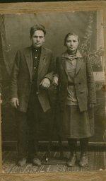 Моисеев Федор Григорьевич c женой